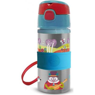 Oops Παιδικό Ανοξείδωτο Μπουκάλι Με Καλαμάκι Small World 400ml 41005-30