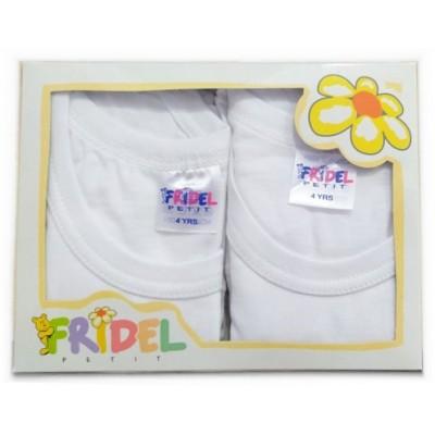 Παιδικά Φανελάκια Λευκά  Σετ 2 Τεμάχια 683 Fridel Petit