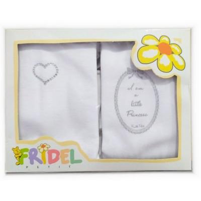 Παιδικά Φανελάκια I am a little princess  Σετ 2 Τεμάχια 404 Fridel Petit