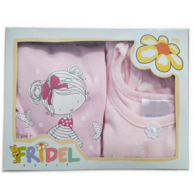 Παιδικά Φανελάκια Pretty Girl Σετ 2 Τεμάχια Ροζ 404 Fridel Petit