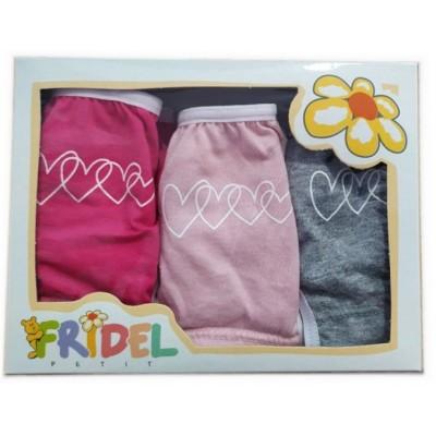 Παιδικά Σλιπάκια Σετ 3 Τεμάχια Χρωματιστά Καρδούλες 401 Fridel Petit