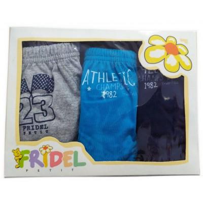 Παιδικά Σλιπάκια Athletic Σετ 3 Τεμάχια Χρωματιστά 501 Fridel Petit