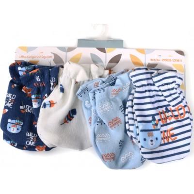Cangaroo Βρεφικά γαντάκια Σετ 4 Τμχ Baby mittens Tibby Μπλε 106904