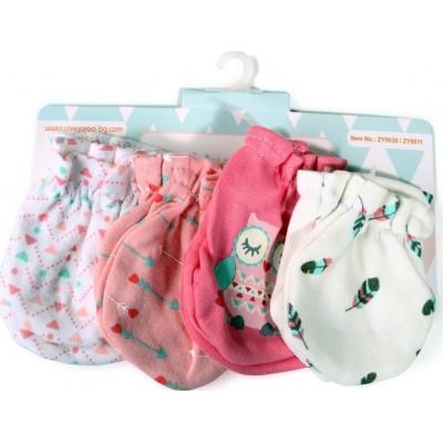 Cangaroo Βρεφικά γαντάκια Σετ 4 Τμχ Baby mittens Tibby Ροζ 106903