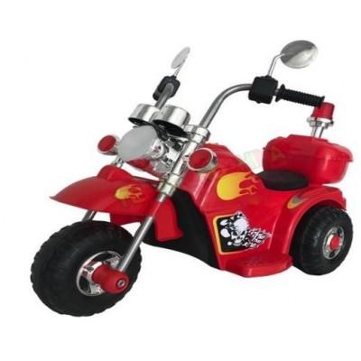 Zita Toys Ηλεκτροκίνητη Μηχανή Chooper Τρίκυκλη με Φως και Μουσική Red 017.778L-R