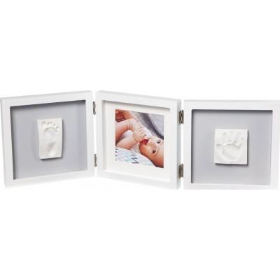 Baby Art Κορνίζα Αποτύπωμα My Baby Style Double Grey BR73759