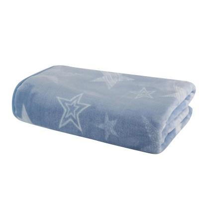 Nef Nef Κουβέρτα Βελουτέ Κούνιας 100x140cm Astro Blue