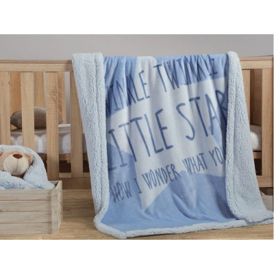 Nef Nef Κουβέρτα Fleece Κούνιας 110x140cm Twinkle Blue