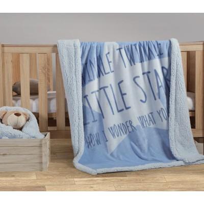 Nef Nef Κουβέρτα Βελουτέ Αγκαλιάς 75x110cm Twinkle Blue