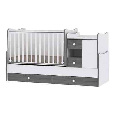 Lorelli Bertoni Minimax New Μετατρεπόμενο Πολυμορφικό Κρεβάτι White - Vintage Grey 10150500034A