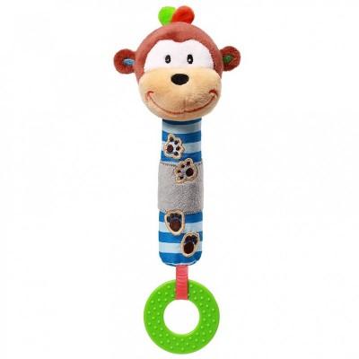 BabyOno Μαλακό Παιχνίδι με Ήχο και Μασητικό George το μαϊμουδάκι BN619