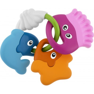 Chicco Βρεφικό Παιχνίδι Οδοντοφυΐας - Κουδουνίστρα Χρωματιστά Ψαράκια 3m+ 05956-00