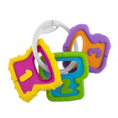Chicco Baby Senses Μασητικό - Κουδουνίστρα Χρωματιστά Κλειδιά 3m+