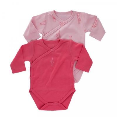Minene Σετ 2 Τεμ. Κορμάκια Βαμβακερά Ροζ - Φούξια