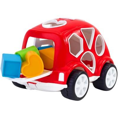 Αυτοκινητάκι με 10 Χρωματιστά Σχήματα Vitamina G GLOBO 12m+