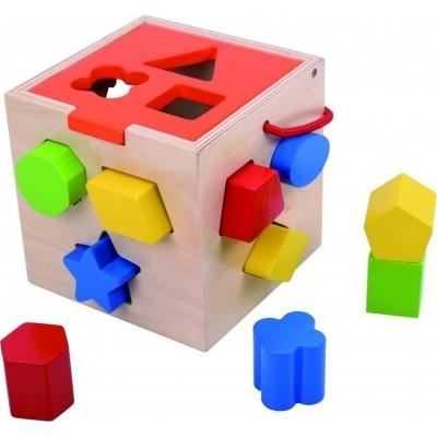 Tooky Toys Ξύλινος Εκπαιδευτικός Κυβος με Σφηνώματα 12μηνών+ TKA977