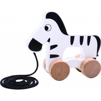 Tooky Toys Ξύλινη Συρόμενη Ζέβρα 12μηνών+ TKC263
