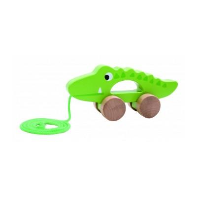 Tooky Toys Ξύλινος Συρόμενος Κροκόδειλος 12μηνών+ TKC265