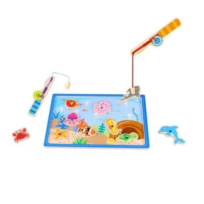 Tooky Toys Ξύλινο Παιχνίδι Ψαρέματος TKF040