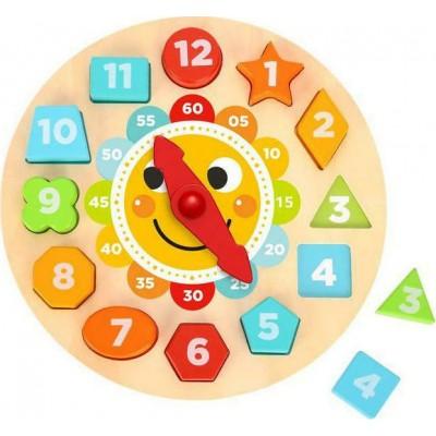 Tooky Toys Ξύλινο Εκπαιδευτικό Ρολόι 3ετών+ TL675