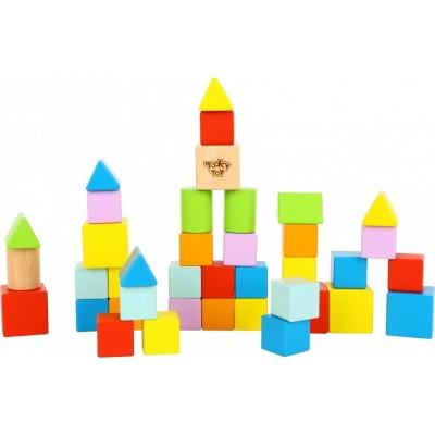 Tooky Toys Ξύλινα Τουβλάκια 39τμχ 12μηνών+ TL799