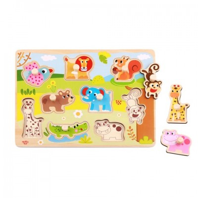 Tooky Toys Ξύλινα Σφηνώματα Puzzle Jungle TY857