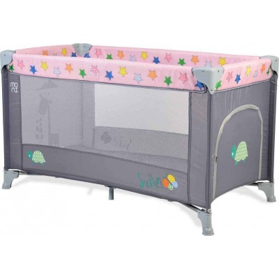 Cangaroo Παρκοκρέβατο Play Yard Safari Pink/Grey 3800146247799