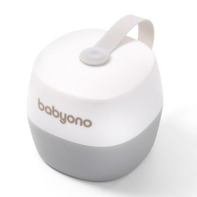 BabyOno Θήκη Πιπίλας  Άσπρο - Γκρί BN535/01