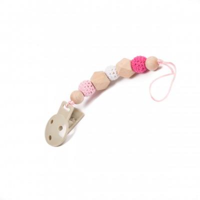Bo Jungle Αλυσίδα Πιπίλας B-Pacifier Chain Pink B563110