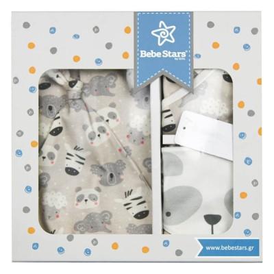 Bebe Stars Σετ δώρου 5τμχ. Panda 0-6μηνών 3129