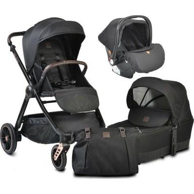 Cangaroo Macan 3 σε 1 Πολυκαρότσι Με Πορτ Μπεμπέ και Κάθισμα Αυτοκινήτου 0-13Kg Black 3800146235291