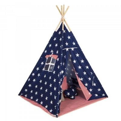 Baby Adventure Παιδική Σκηνή Teepee Grey Stars BR75042