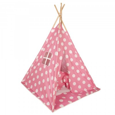 Baby Adventure Παιδική Σκηνή Teepee Pink Dots BR75044