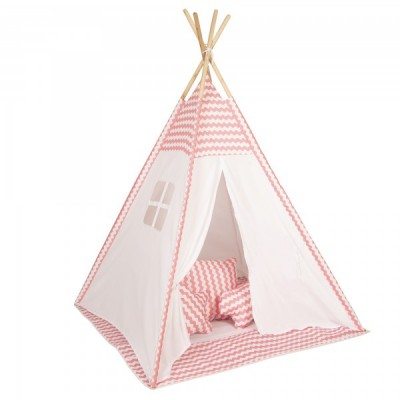 Baby Adventure Παιδική Σκηνή Teepee Pink Wave BR75045
