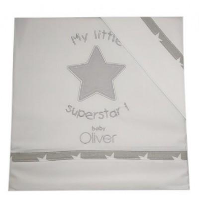 Σετ Σεντόνια Κούνιας Βαμβακερά 3 Τεμ. Baby Oliver My Little Superstar 110x165