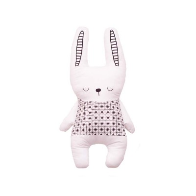 Bizzi Growin Παιδικό Μαξιλάρι Little Dreamer Monochrome Rabbit