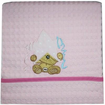 Κουβέρτα Πικέ Αγκαλιάς Star Bear Pink Morven Baby 80x110