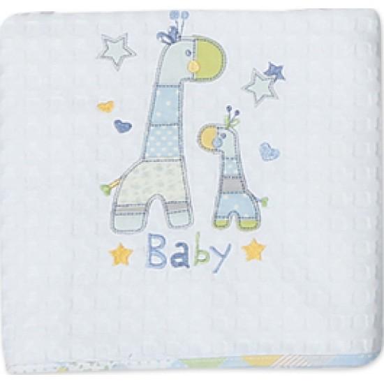 Nef Nef Κουβέρτα Πικέ Κούνιας Baby Girafe 110x150 019272