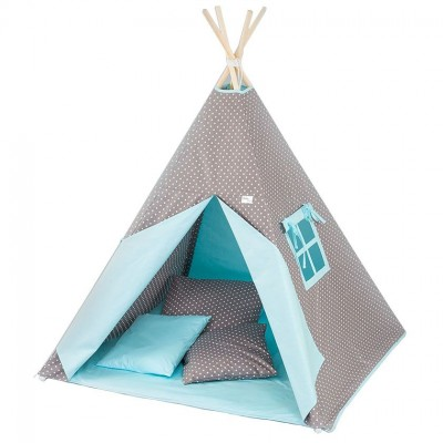 Tuttolina Παιδική Σκηνή Tepee Dots Turquoise T2