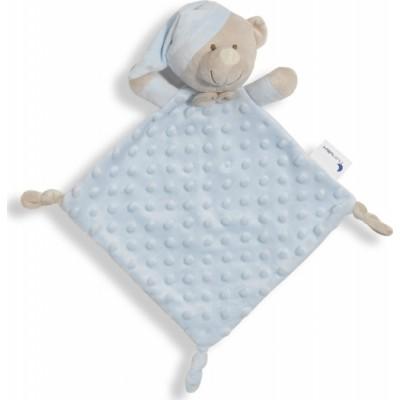 Interbaby Πανάκι Παρηγοριάς Doudou Bear Μπλε