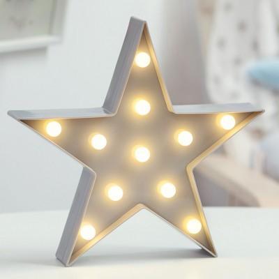 Kiokids Φωτιστικό Τοίχου LED 24.5 x 17.5cm Γκρι Αστέρι 62483