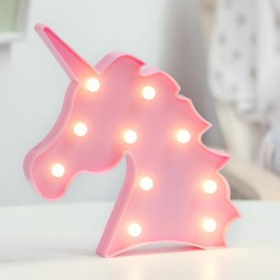 Kiokids Φωτιστικό Τοίχου LED 26 x 27cm Ροζ Μονόκερος 62482