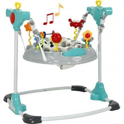 Bebe Stars Jumper -Τραμπολίνο με μουσική, φωτάκια και υποδοχή για Mp3 Player Sea Animals Grey 4104