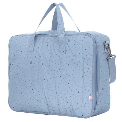 My Bags Βαλίτσα Μαιευτηρίου και Παιδική Τσάντα Leaf Blue wb-lef-blu