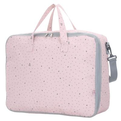 My Bags Βαλίτσα Μαιευτηρίου και Παιδική Τσάντα Leaf Pink wb-lef-pin