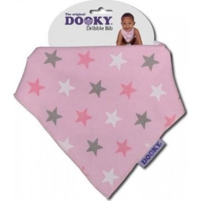 Dooky Σαλιάρα Μπαντάνα Pink Stars Dribble Bib