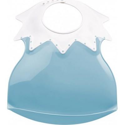 Thermobaby Πλαστική σαλιάρα Soft Arlequin Μπλε