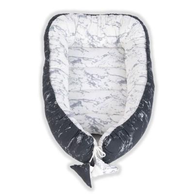 Tuttolina Βρεφική Φωλιά 2 Όψεων Marble Black - White TUK19-ΜΒW