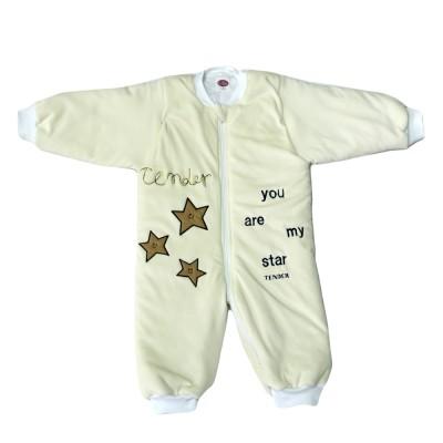 Tender Παιδικός Υπνόσακος με Πόδια Βελούδο Αστέρια Εκρού 2312