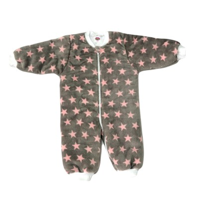 Tender Παιδικός Υπνόσακος Fleece με Πόδια Γκρι - Ροζ Αστέρια 2315
